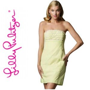 Lilly Pulitzer Dress Franco Gingham Strapless XS